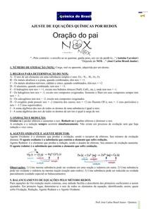 Ajuste de equações químicas por Redox (Prof Brasil)