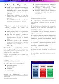 auditoria e gestão de qualidade - Processos gerenciais/ Programa de Segurança do Paciente/ Qualidade aplicada as intuições de saúde/ Gestão por processos
