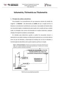 Introdução a Titrimetria e calculos