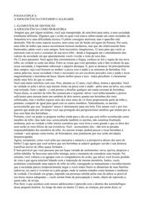 A Adolescência - Contardo Calligaris (caps. 1 e 2)