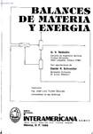 Introduction to Material and Energy Balances - Reklaitis (Espanhol)