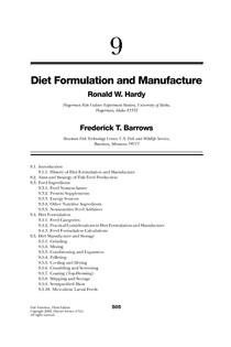 Fish Nutrition Cap 9  Formulação de dietas - Aquicultura
