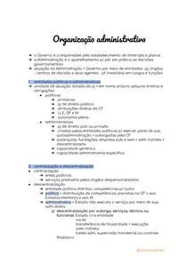 organização administrativa - direito administrativo