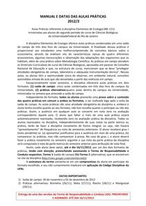 Eleco Manual e Datas das Práticas 2012-2