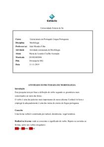 ATIVIDADE ESTRUTURADA DE MORFOLOGIA58298