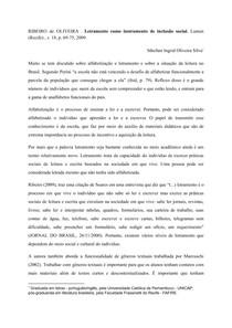 Resenha - Alfabetização e Letramento