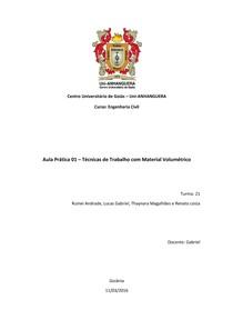 Relatório de Química Aula Prática 01 - Técnicas de Trabalho com Material Volumétrico