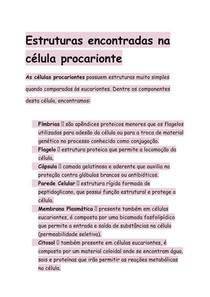 Estruturas Células Procariontes