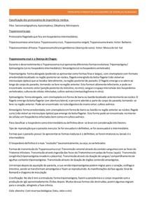 PRINCIPAIS PARASITAS CAUSADORES DE DOENÇAS HUMANAS