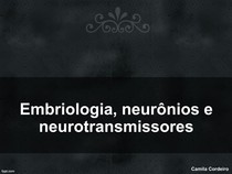 Aula Embriologia, neurônios e neurotransmissores