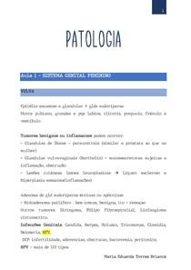 Patologia - Sistema Genital feminino e masculino