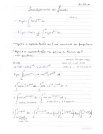 Exercício  Transformada Fourier