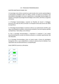 ESTUDOS DISCIPLINARES - PSICOLOGIA FENOMENOLOGICA 2021