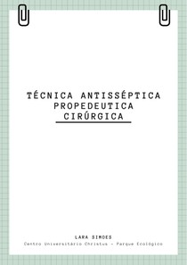 Propedêutica cirúrgica + Instrumentos cirúrgicos