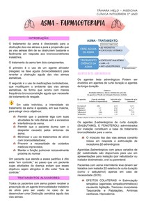 SISTEMA RESPIRATÓRIO - ASMA - FARMACOTERAPIA