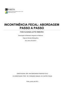 Incontinencia Fecal Abordagem Passo a Passo (1)