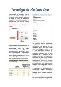 Farmacologia dos Anestésicos Locais