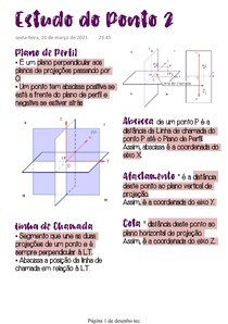 Estudo do Ponto 2 - Geom Descritiva (parte 4)