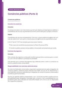 Características de consórcios públicos e privados - Resumo