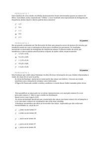Probabilidade e estatistica