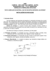 Aula basica de hidraulica, referente a