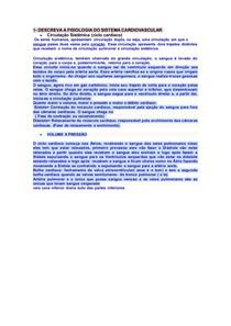 SP5 Fisiologia DO SISTEMA CARDIOVASCULAR