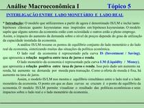 Macroeconomia I - Tópico 05
