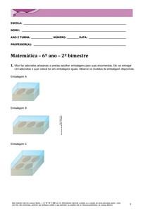 Matemática 6º ano 2º Bim
