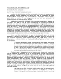 VIGIAR E PUNIR. PARTE I - SUPLÍCIO. CAPÍTULO I - O CORPO DOS CONDENADOS