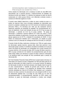 INTERVENÇÕES NÃO FARMACOLÓGICAS NA PREVENÇÃO DO DIABETES TIPO 2