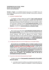 Atividade Direito Administrativo II - Pregão eletronico