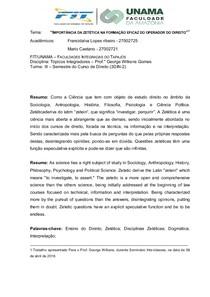 IMPORTÂNCIA DA ZETÉTICA NA FORMAÇÃO EFICAZ DO OPERADOR DO DIREITO