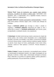 Resumo - Nilo Batista - Introdução Crítica ao Direito Penal Brasileiro