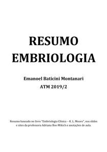 Resumo - Embriologia