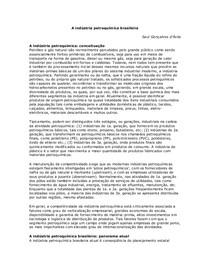 A ind-¦ústria petroqu-¦ímica brasileira Vers-¦ão nova