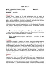 ATIVIDADE DE CLINICA 1