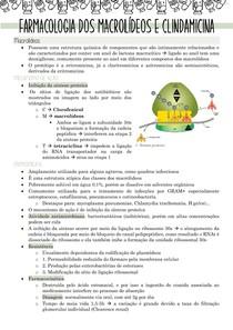 Farmacologia dos macrolídeos e clindamicina