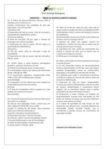 Exercícios Geobrasil - IDH
