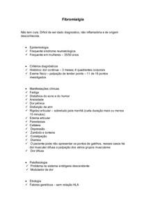 Fibromialgia resumo