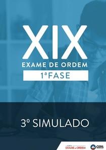 Terceiro e último simulado para o XIX exame da OAB (CERS)