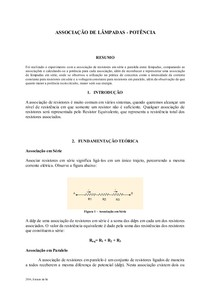 Relatóriode Física 3   Associação de lâmpadas