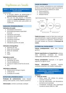 AULA 2 - VIGILÂNCIA EM SAÚDE (estrutura epidemiológica e causalidade)