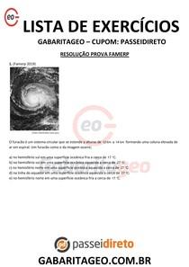 RESOLUÇÃO PROVA VESTIBULAR - FAMERP EXCLUSIVO 03