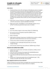 RESUMÃO DA APROVAÇÃO - SÍNDROME DE GUILLAIN-BARRÉ