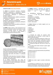 Módulo 5 - aula 8 a 14 - Histologia Vegetal