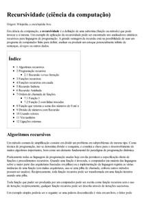 Recursividade (ciência da computação) – Wikipédia  a enciclopédia livre