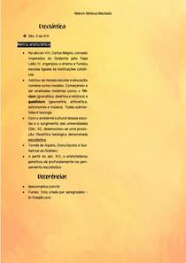 Resumo - Escolástica - Pré-Vestibular