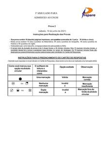 3º SIMULADO ENEM- 2º DIA CURSO PREPARE 2021