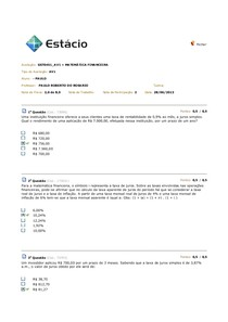 Av1 Matemática Financeira EAD
