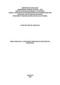 KAYZE WHYARA - ATIVIDADE 2 - MAPA CONCEITUAL
